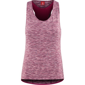 Löffler Rainbow Racerback Bike Top Women berry/rainbow